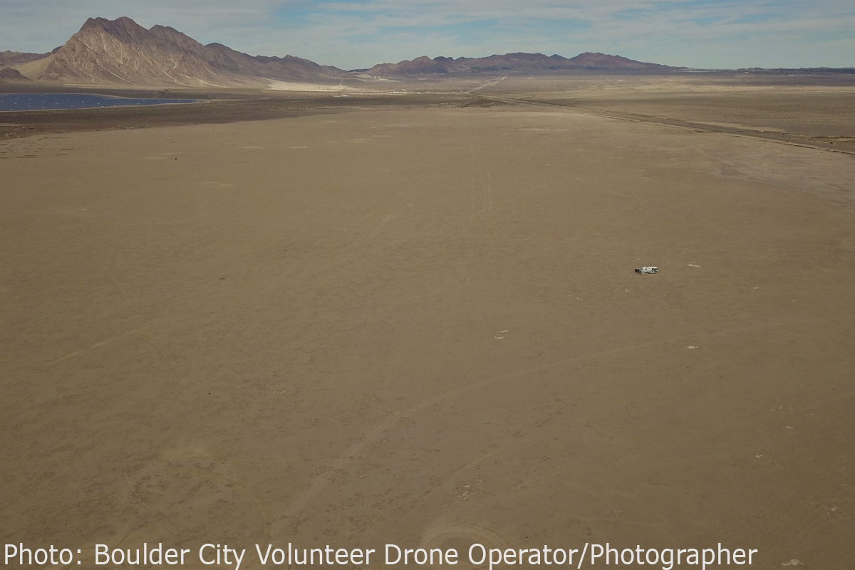 Fan Photo Dry Lake Bed Drone Boulder City, NV