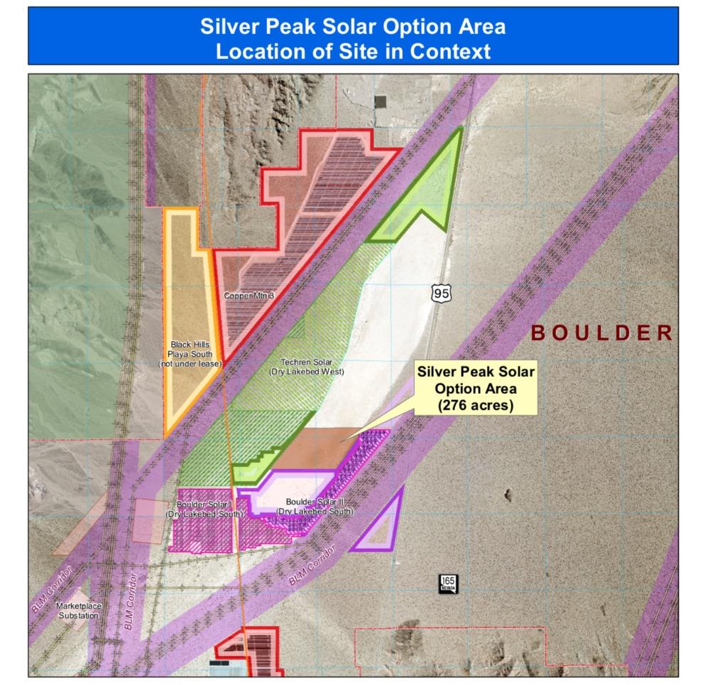 Dry Lake Bed Parcel Map Boulder City, NV