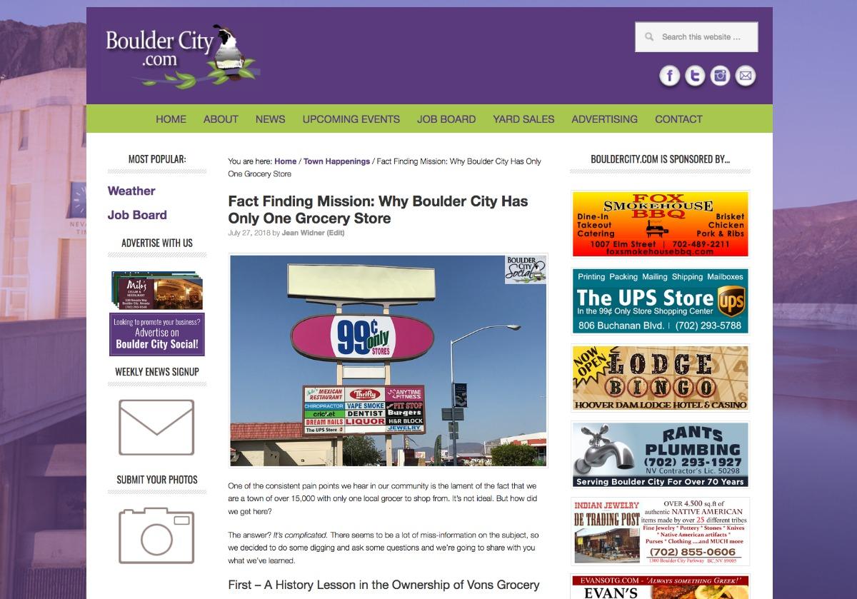 Top Stories 2018 Boulder City, Nevada
