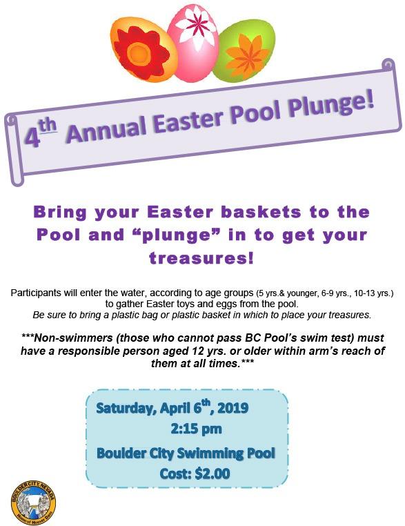 Easter Pool Plunge Flyer 2019 Boulder City, NV