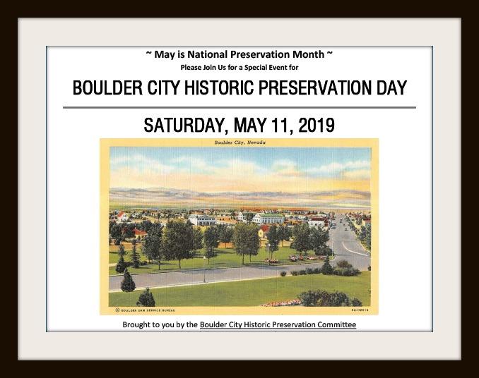 Historic Preservation Day Boulder City, Nevada