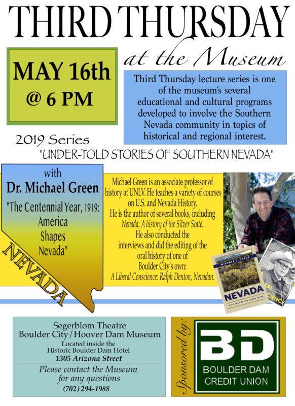Third Thursday Flyer May Boulder City, Nevada