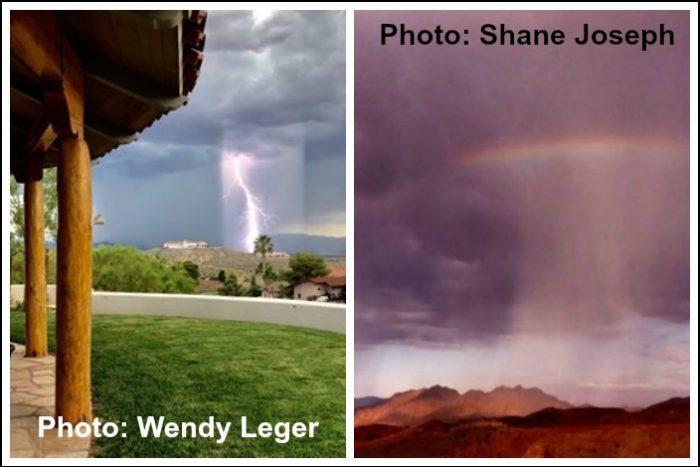 Dual Storm Images Fan Photo Boulder City, NV