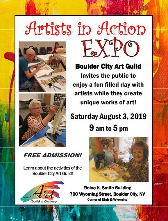 Flyer Artist Expo Boulder City, Nevada