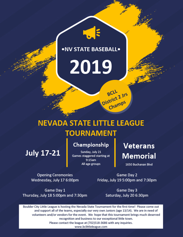 State Little League Champs play Boulder City, NV