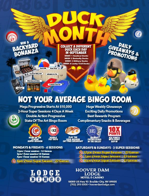 Lodge Bingo Room Sept Boulder City, NV