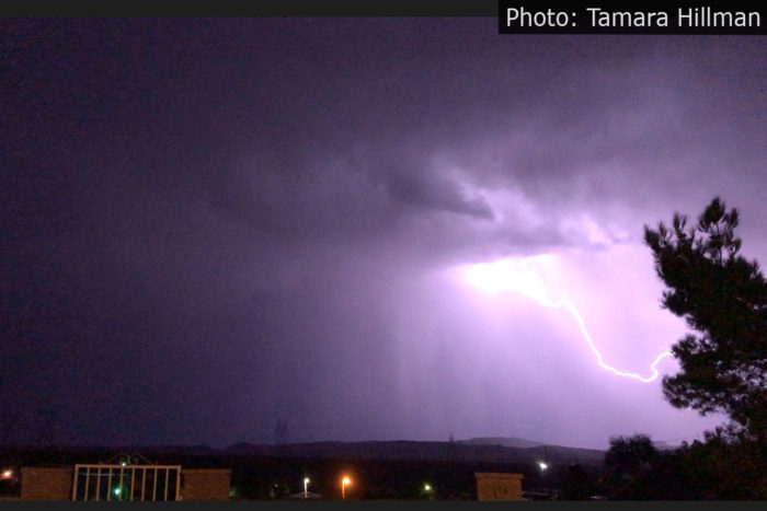 Fan Photo Lightning Tamara Hillman Boulder City, Nevada
