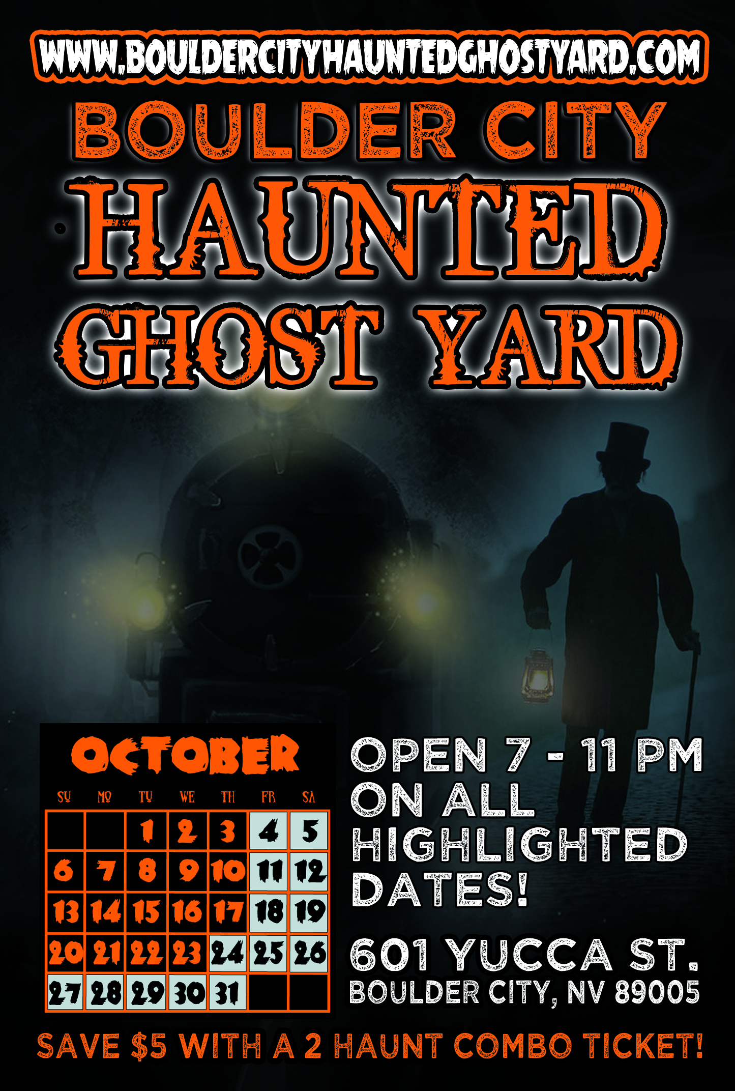 Haunted Ghost Yard Flyer Boulder City, NV