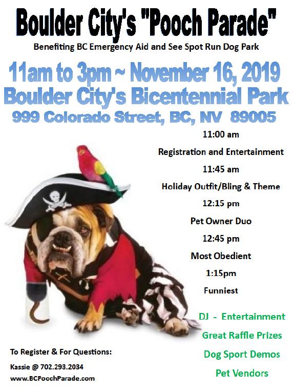 Pooch Parade Flyer 2019 Boulder City, NV