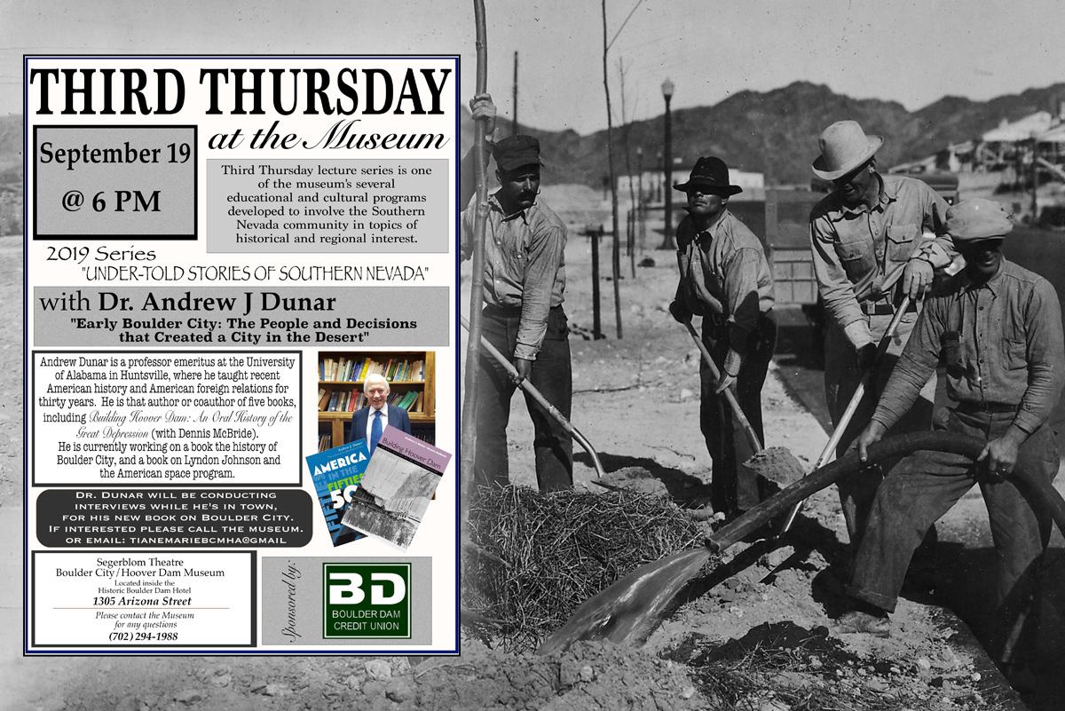 Thurd Thursday Museum Boulder City, NV