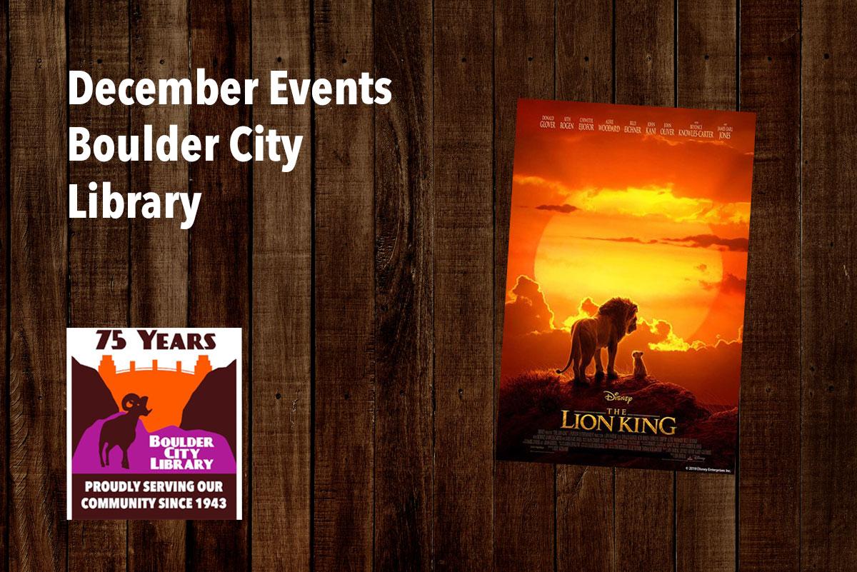 December Library Events Boulder City, Nevada