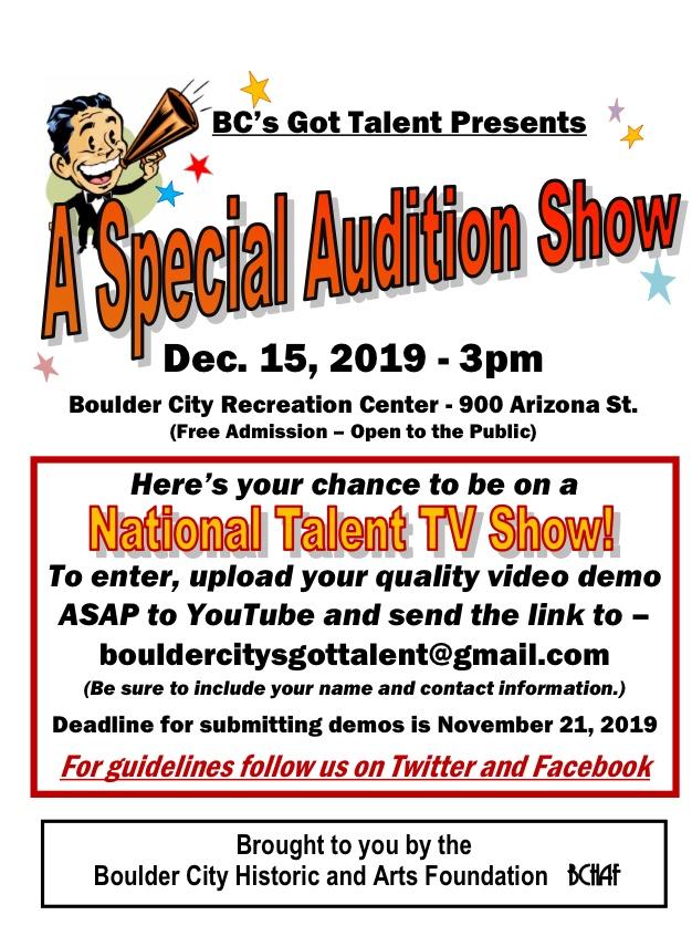 Talent Flyer Boulder City, Nevada
