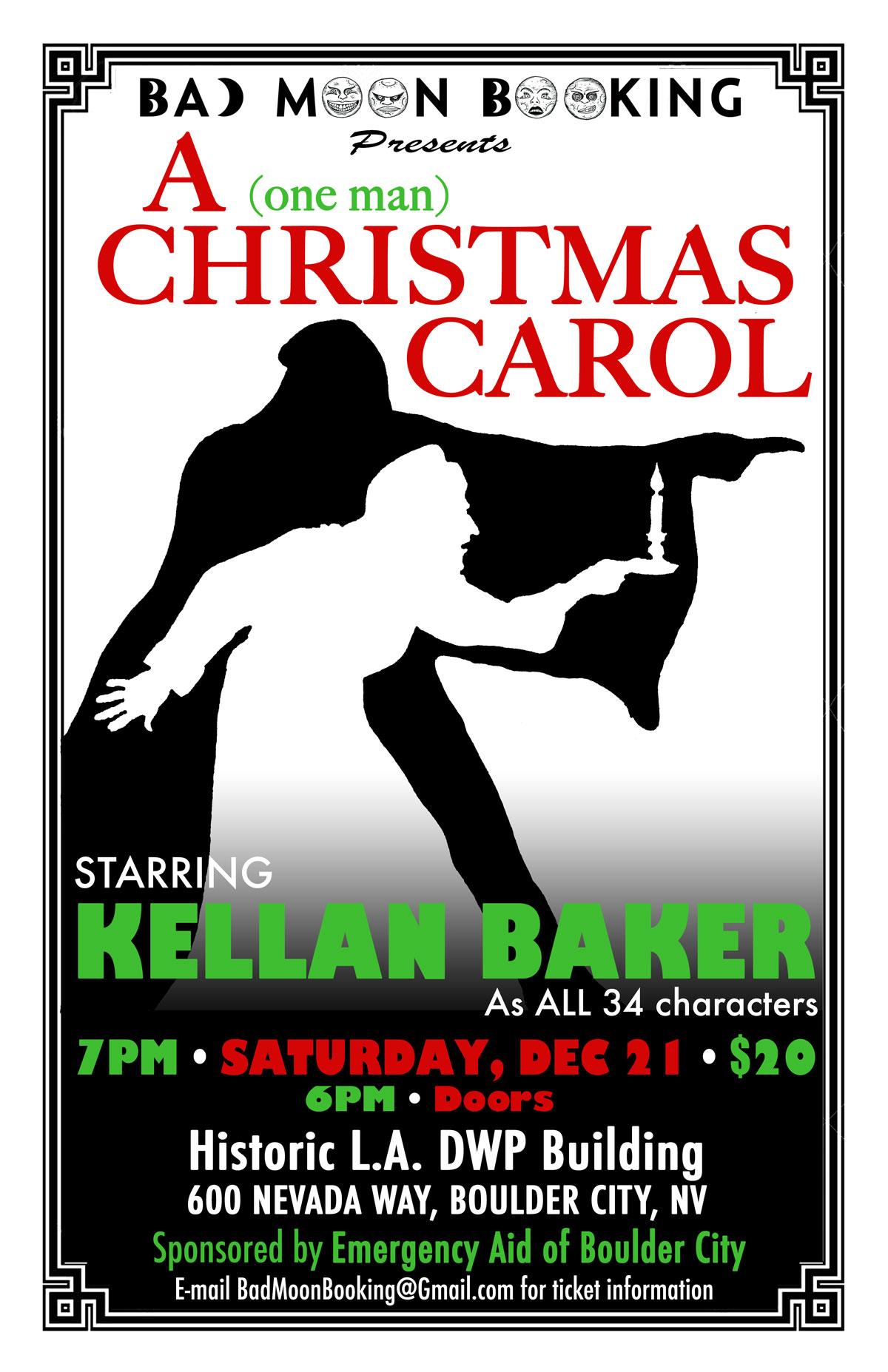 Christmas Carol Poster 2019 Boulder City, NV