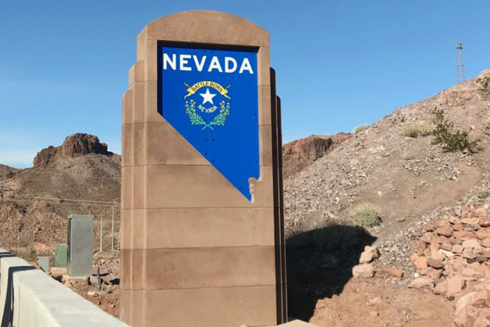 New Nevada Welcome Sign Boulder City, NV