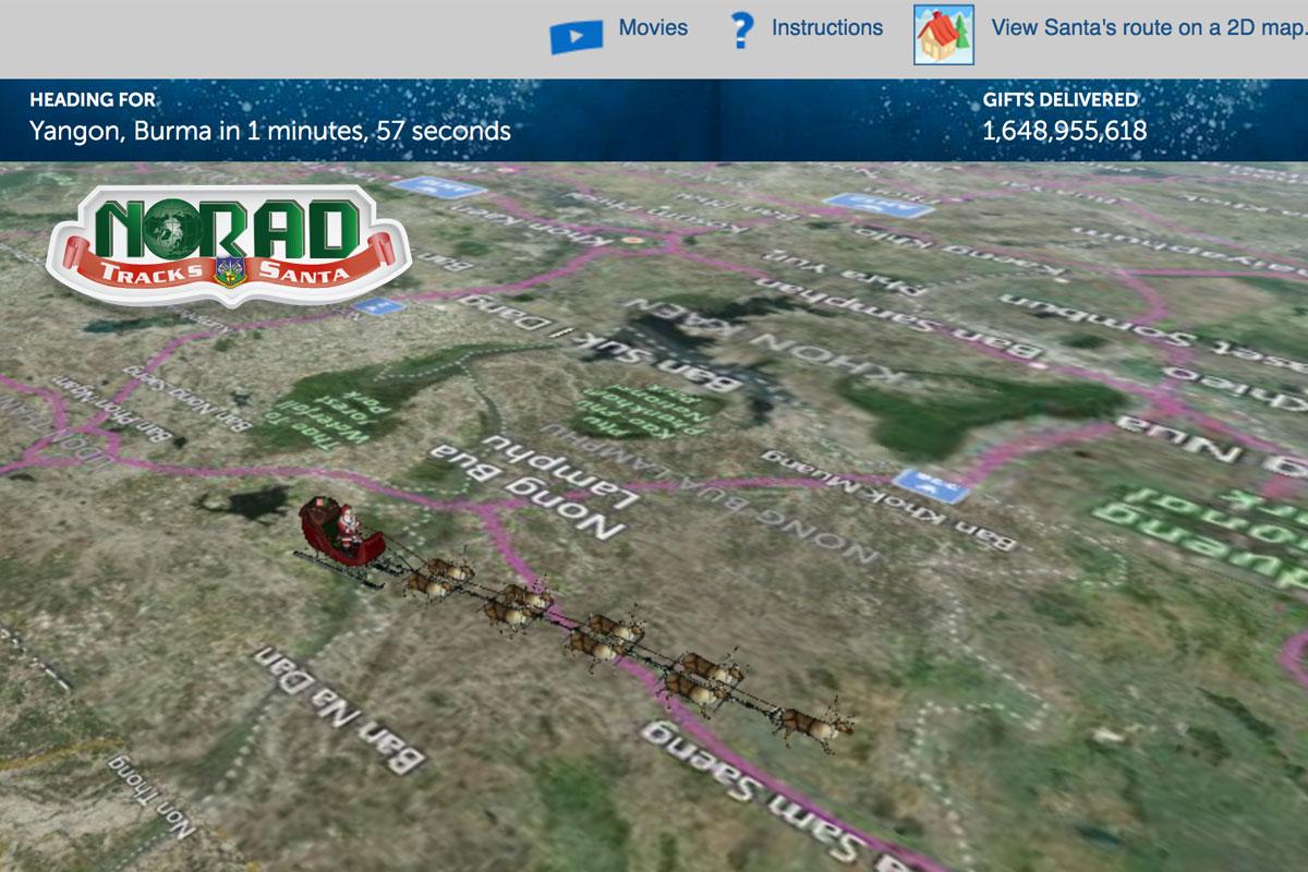 Norad Santa Tracker Live Boulder City, NV