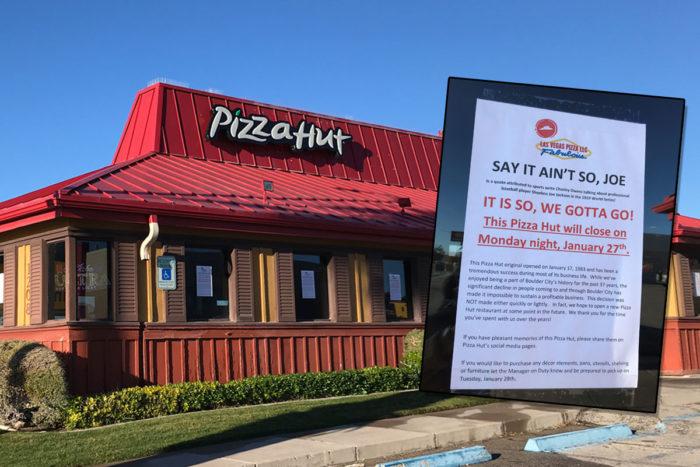 Pizza Hut Closing Boulder City, NV
