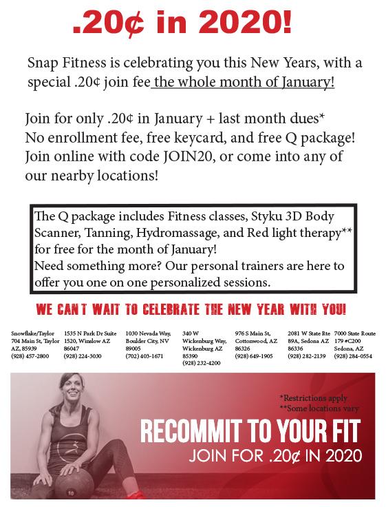 Snap January Flyer Boulder City, NV