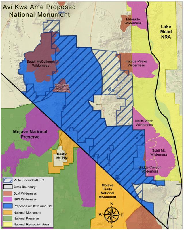 Avi-Kwa-Ame-Naional-Monument-Map-2-13-20 Boulder City, NV