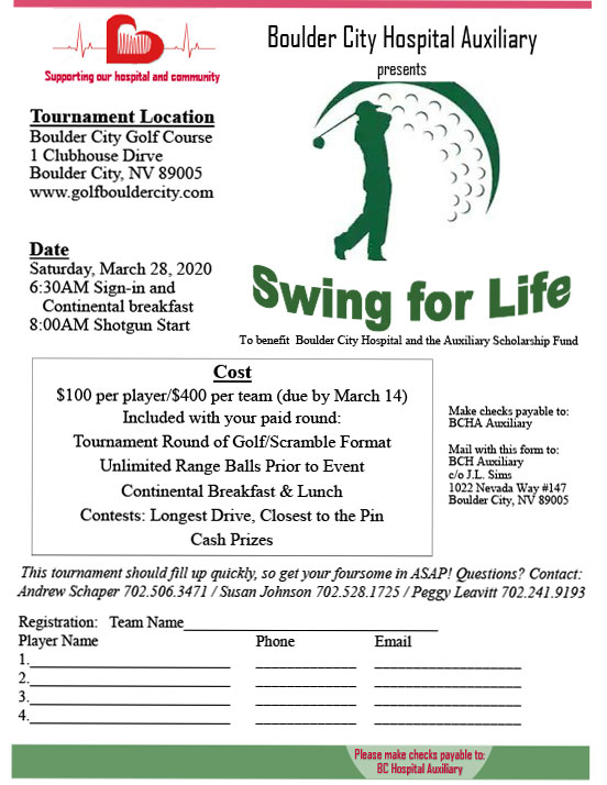 Golf Tourney Flyer Boulder City, Nevada