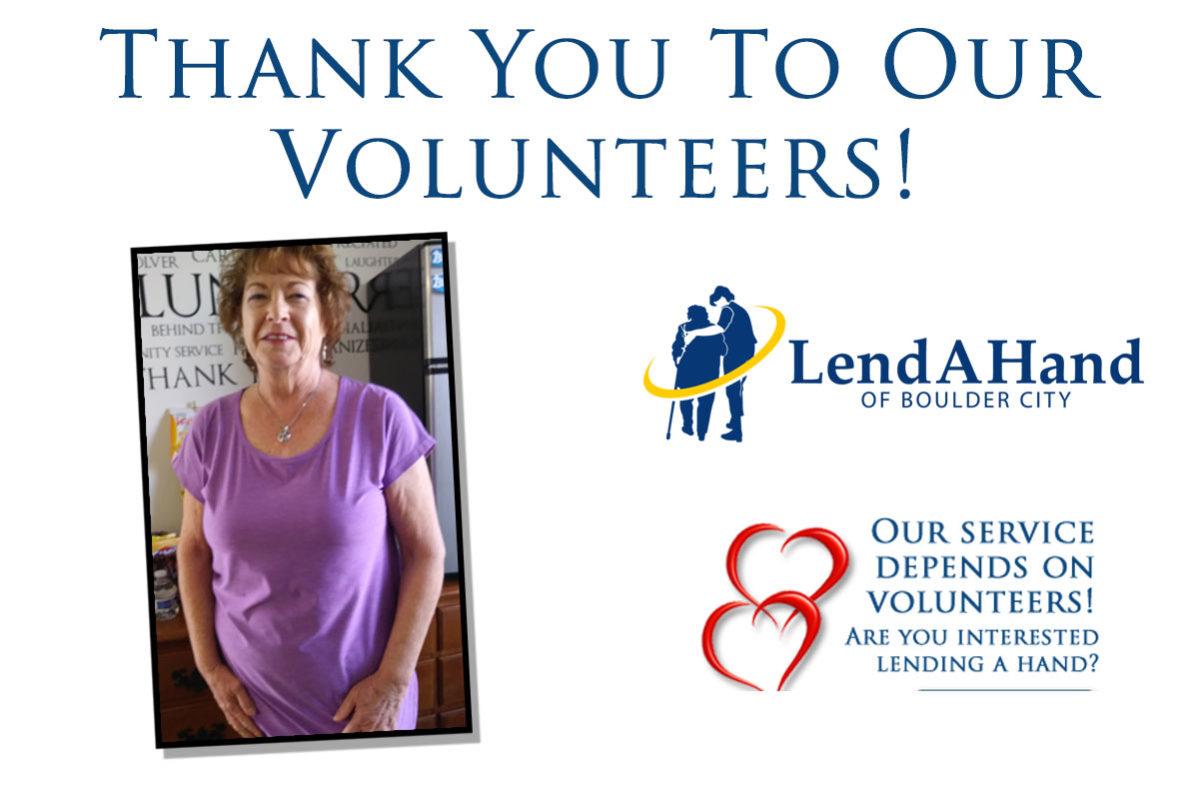 Lend A Hand Volunteer Thank You Boulder City, NV