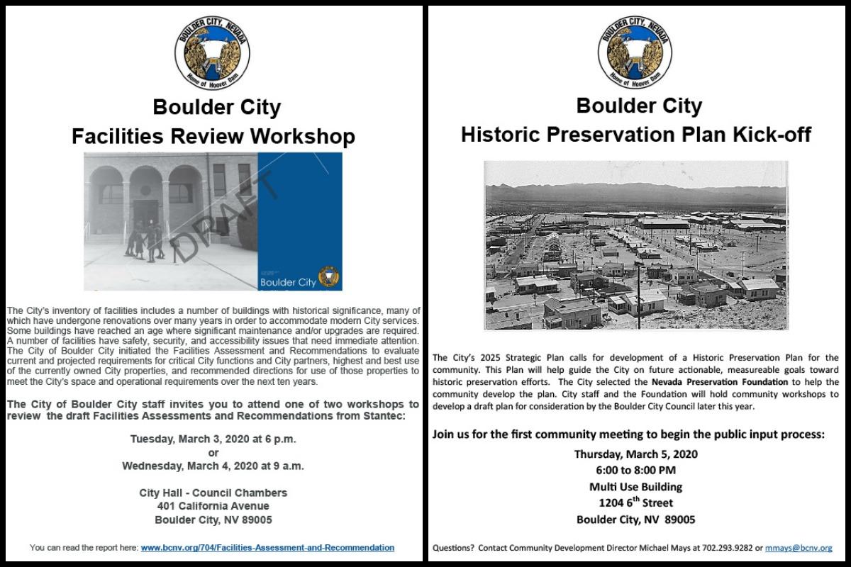 Workshop Flyers Boulder City, Nevada