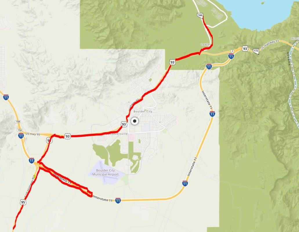 Tanker Route Boulder City, Nevada