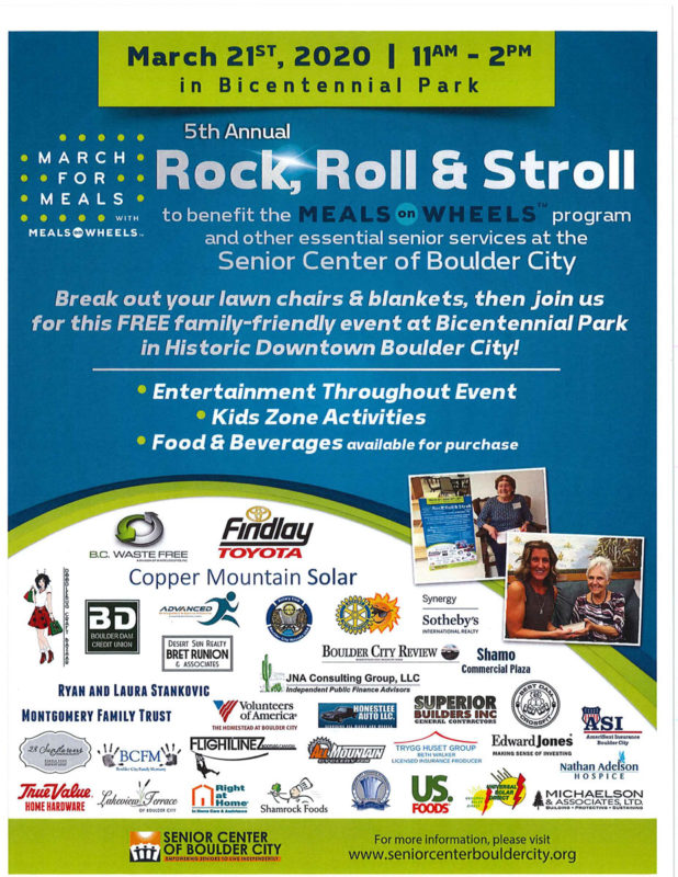 Rock Roll Stroll Flyer Boulder City, NV