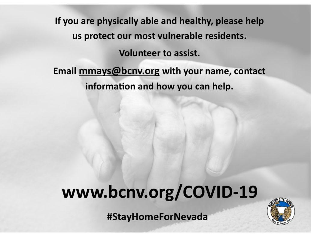 Volunteer COVID Boulder City, Nevada