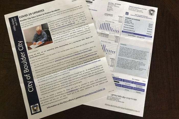 New Utility Bill & Insert Boulder City, Nevada