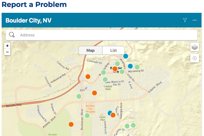 SeeClickFix App Boulder City, Nevada
