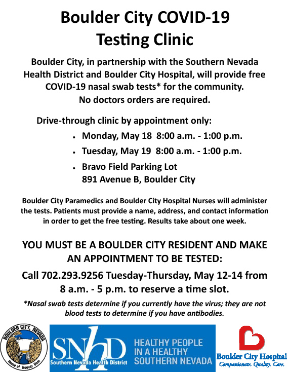Clinic-Flyer Boulder City, Nevada