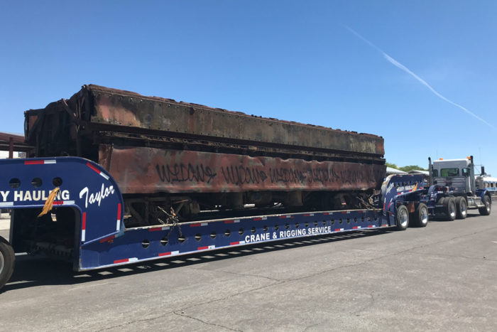 Dump Car Arrives Boulder City, Nevada