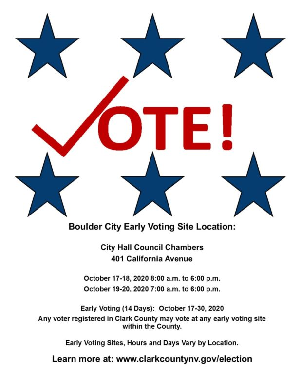 Early Voting Flyer Boulder City, Nevada
