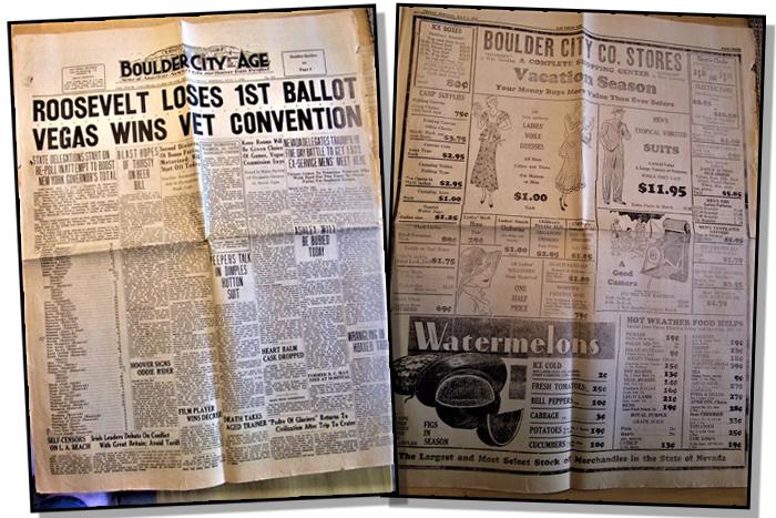 1932 Boulder City, Nevada Newspaper