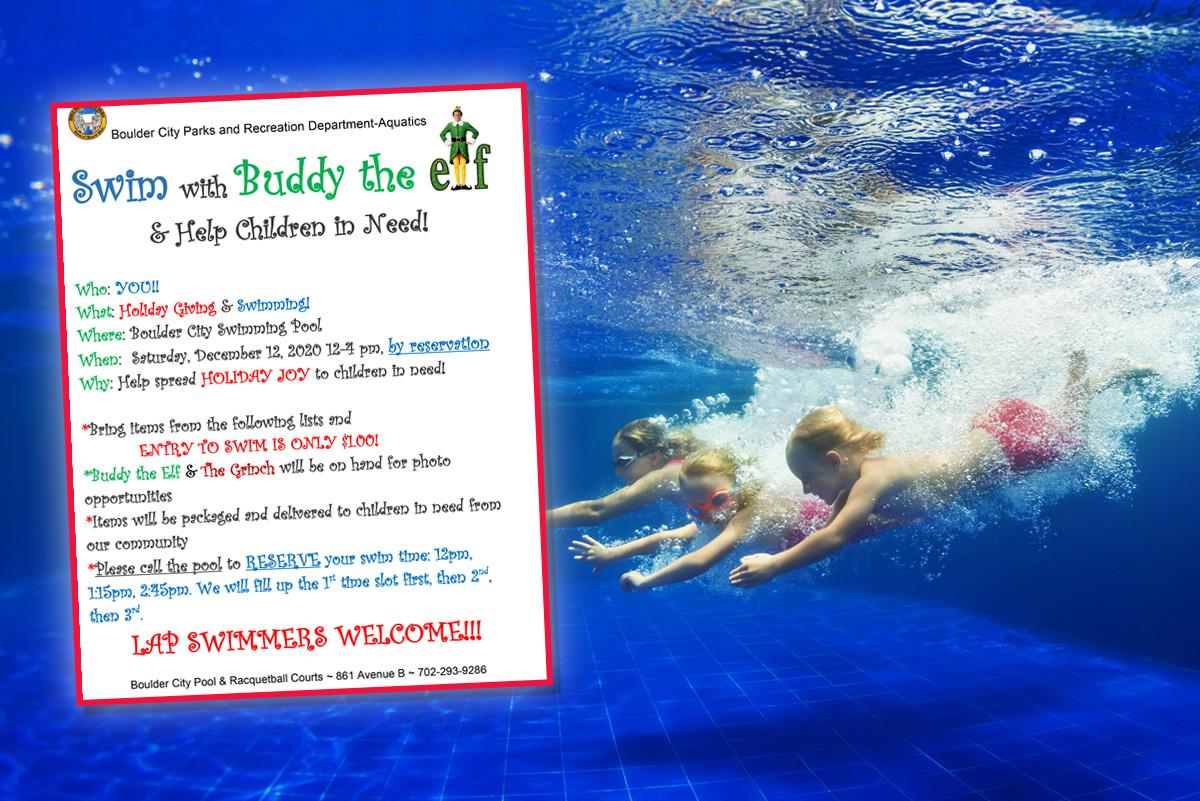 Swim Buddy Elf Fundraiser Boulder City, Nevada