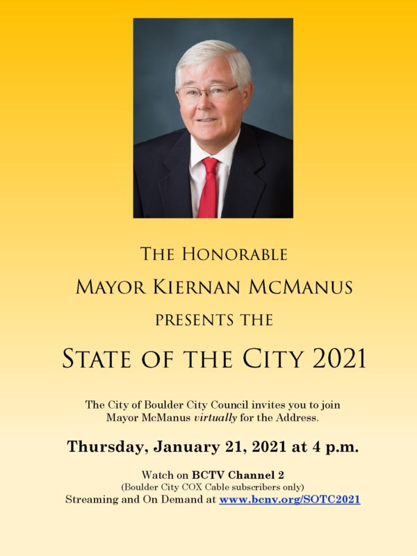 2021 State of the City Flyer Boulder City, NV