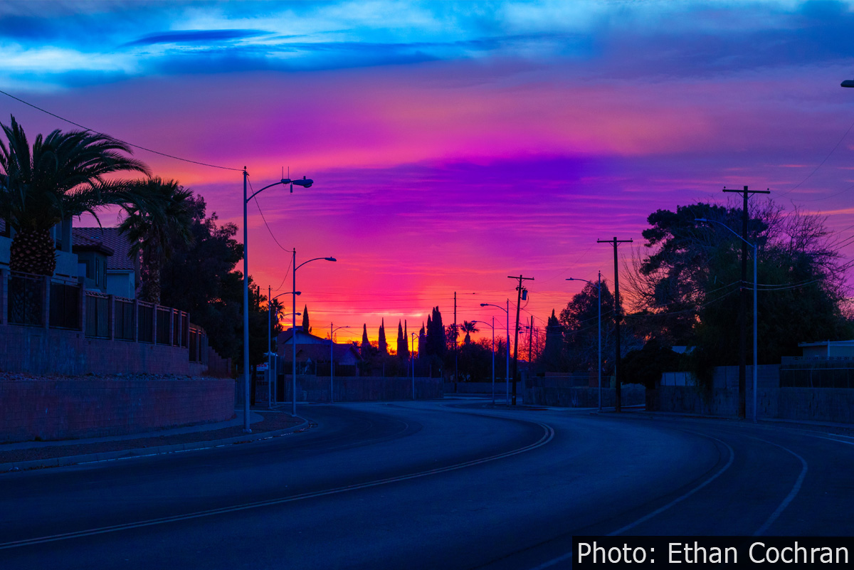 Fan Photo Sunrise Ethan Cochran Boulder City, NV