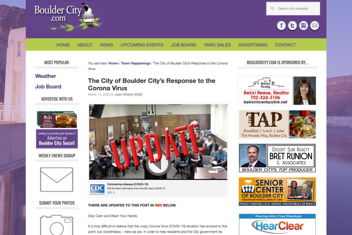 Top Stories 2020 Boulder City, Nevada