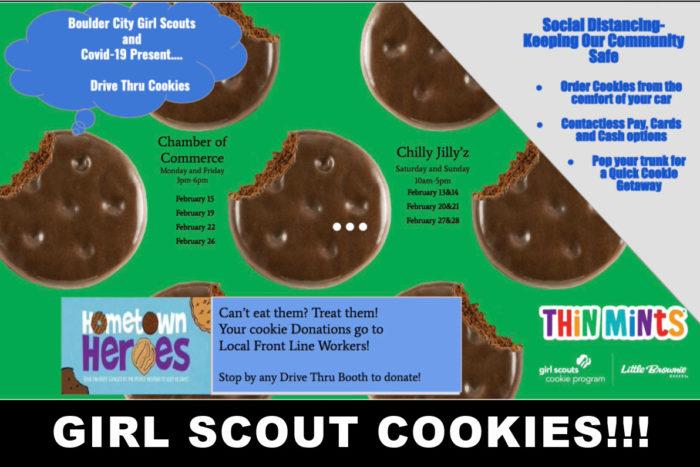 Boulder City Girl Scouts Drive Thru Boulder City, Nevada