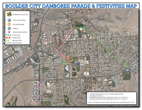2011 Damboree Event Map