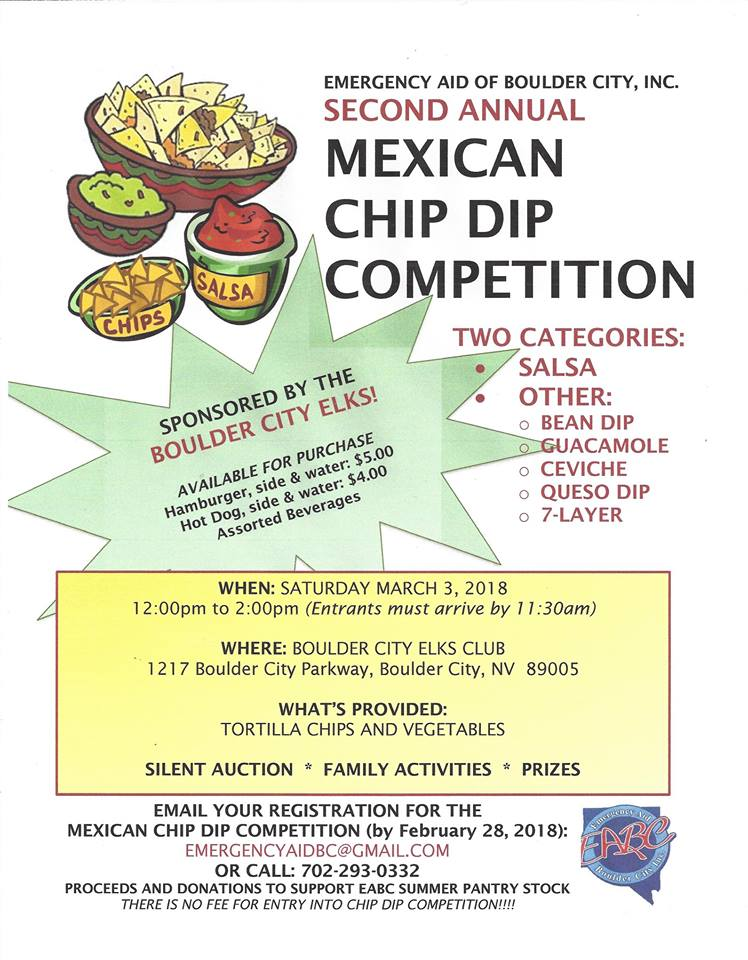Mexican Chiip Dip Competition Flyer, Boulder City, NV