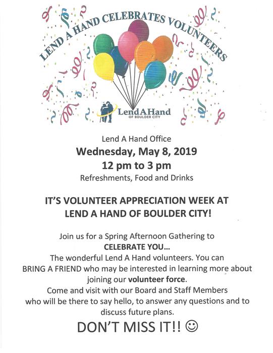 Lend a Hand Spring Volunteer Event Boulder City, NV