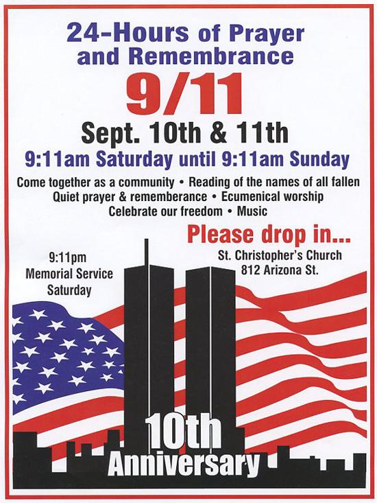 9-11 Memorial Service in Boulder City Flyer