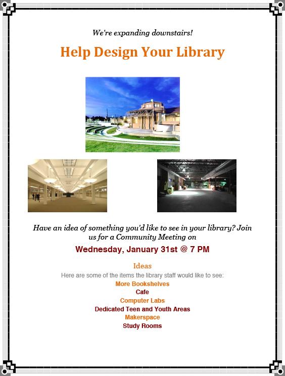 Boulder City, NV Library Cmty Mtg Flyer