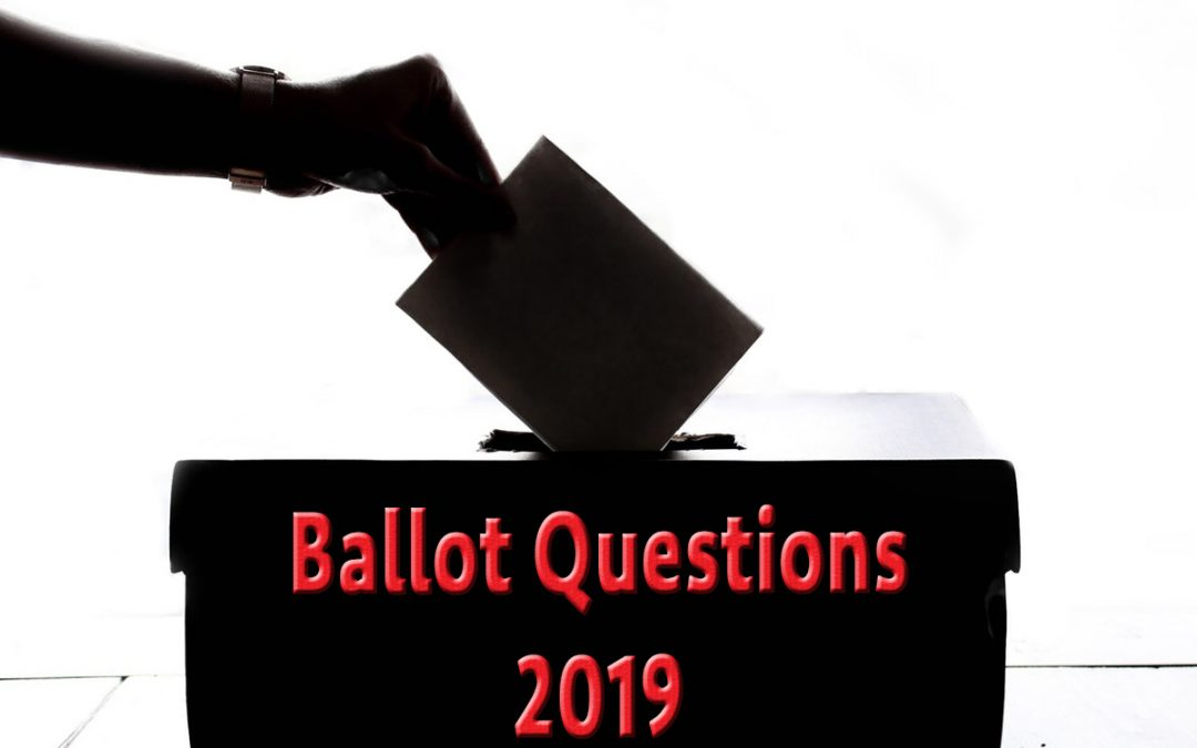 Boulder City Ballot Questions 2019