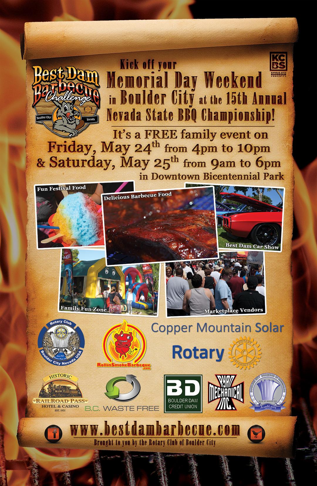Best Dam Barbecue Poster Boulder City, NV