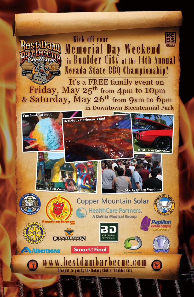 Best Dam Barbecue Poster2018 Boulder City, NV
