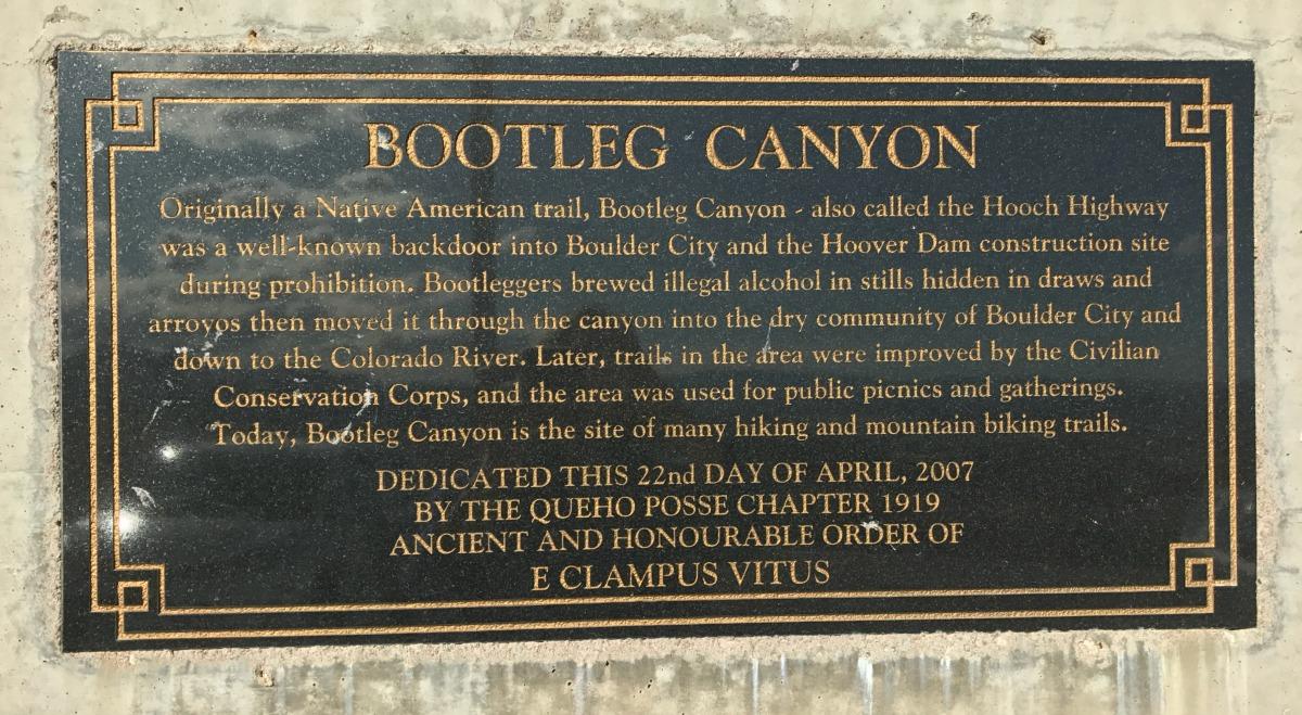 Bootleg Canyon Closeup Boulder City, NV