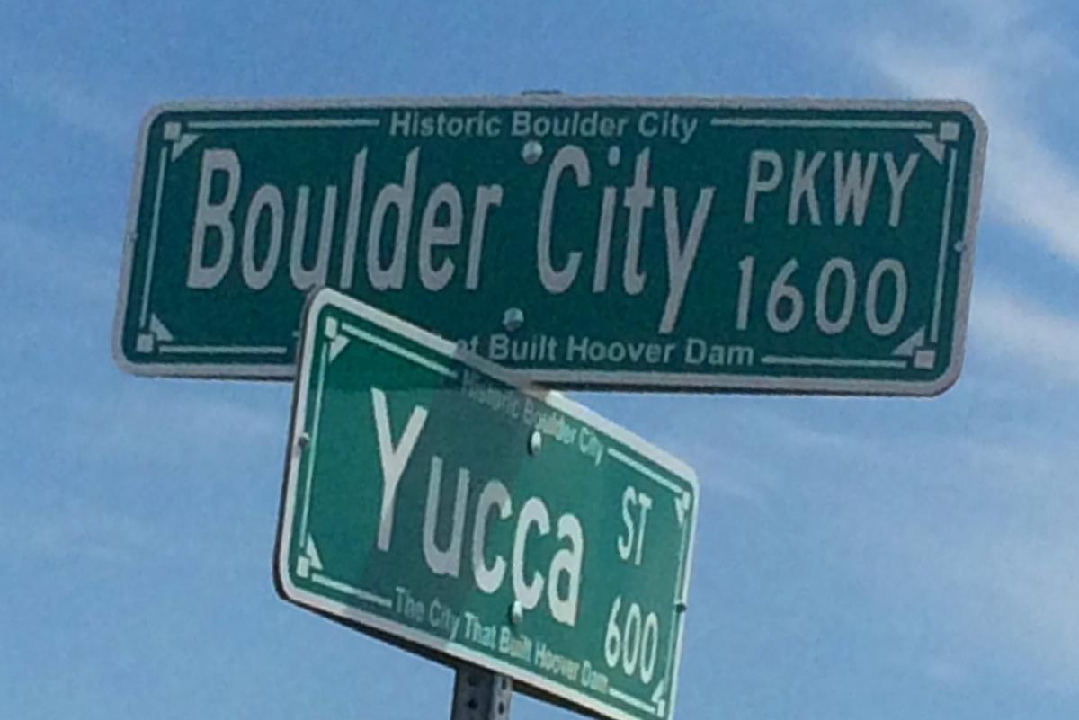 Boulder City Parkway Sign Boulder City, Nevada