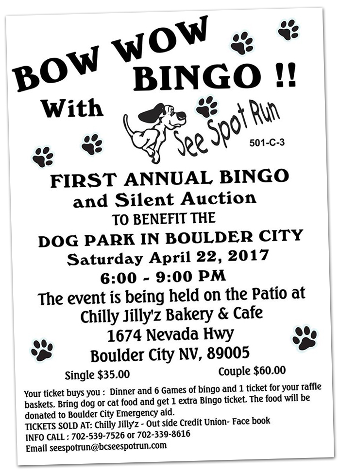Bow Wow Bingo 2017 in Boulder City, Nevada